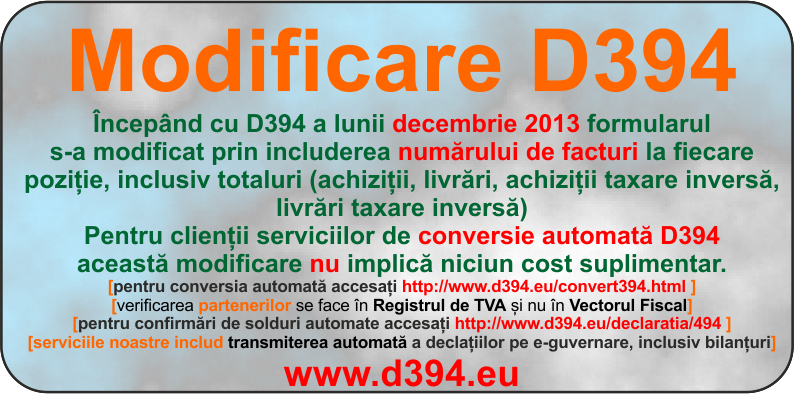 Modificare D394